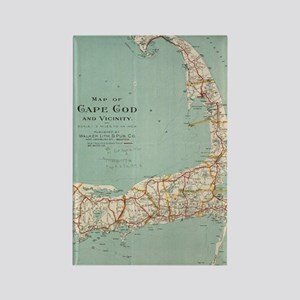 Vintage Map of Cape Cod (1917) Rectangle Magnet