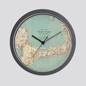 Vintage Map of Cape Cod (1917) Wall Clock