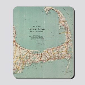 Vintage Map of Cape Cod (1917) Mousepad