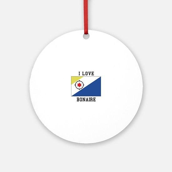 I love Bonaire Ornament (Round)
