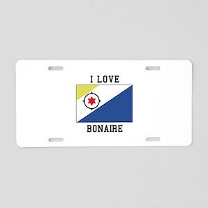 I love Bonaire Aluminum License Plate