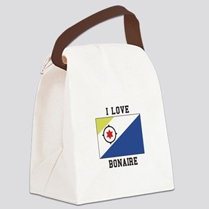 I love Bonaire Canvas Lunch Bag