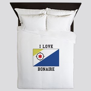 I love Bonaire Queen Duvet