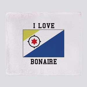 I love Bonaire Throw Blanket