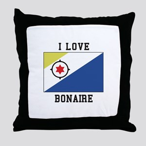 I love Bonaire Throw Pillow