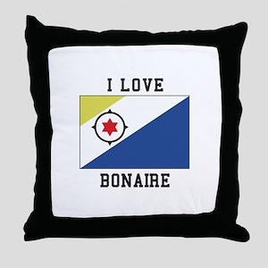 I love Bonaire Throw Pillow