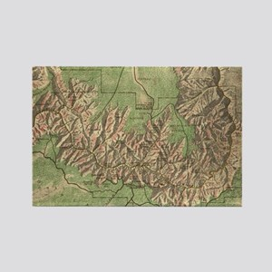 Vintage Map of The Grand Canyon ( Rectangle Magnet