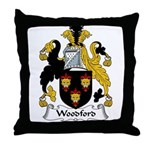 Woodford Family Crest Throw Pillow