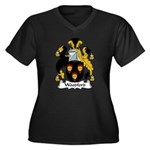 Woodford Family Crest Women's Plus Size V-Neck Da