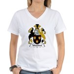 Woodford Family Crest  Women's V-Neck T-Shirt