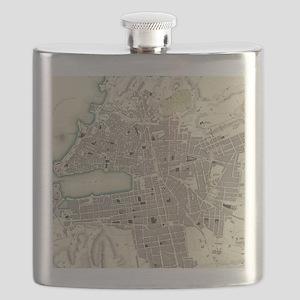 Vintage Map of Marseille France (1840) Flask