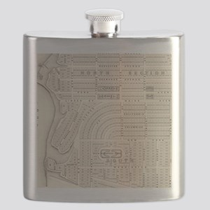 Vintage Map of Marthas Vineyard (1873) Flask