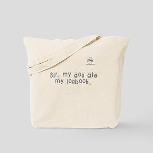 Sir, my dog ate my logbook - TV Tote Bag