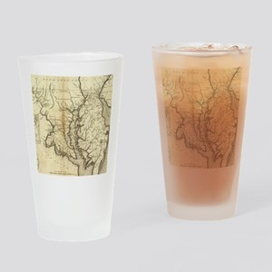 Vintage Map of Maryland (1796) Drinking Glass