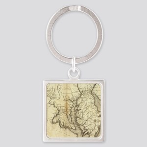 Vintage Map of Maryland (1796) Square Keychain
