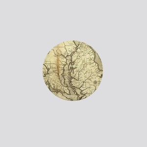 Vintage Map of Maryland (1796) Mini Button