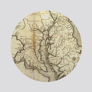 Vintage Map of Maryland (1796) Round Ornament