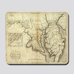 Vintage Map of Maryland (1796) Mousepad