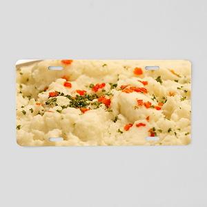 Mashed Potatoes Aluminum License Plate