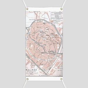 Vintage Map of Mechelen Belgium (1905) Banner