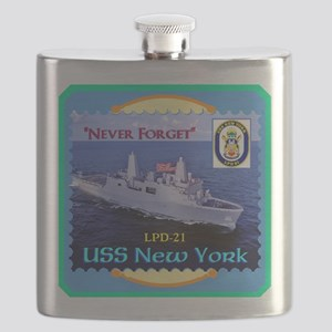 USS New York Flask