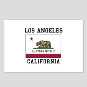 Los Angeles California Flag Postcards (Package of