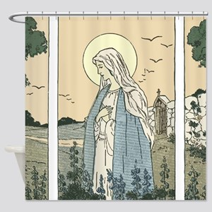 Mary of the Lupins Shower Curtain