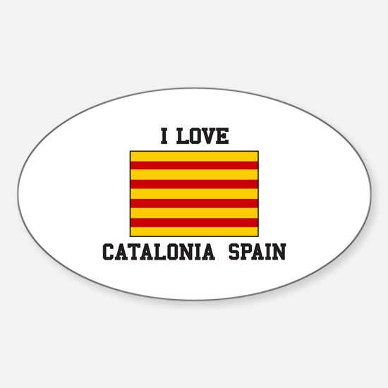 I Love Catalonia Spain Decal