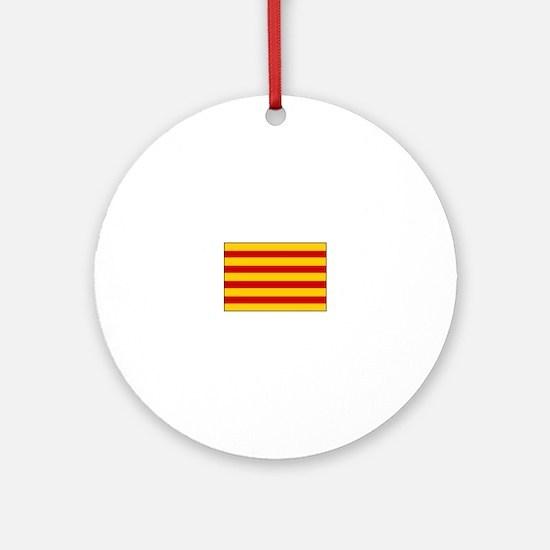 Catalonia Flag Spain Ornament (Round)