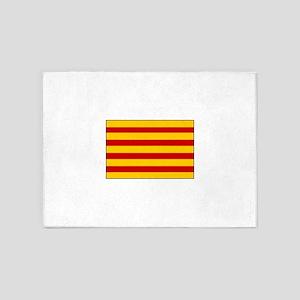 Catalonia Flag Spain 5'x7'Area Rug