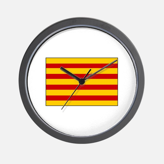 Catalonia Flag Spain Wall Clock