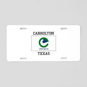 Carrollton Texas Aluminum License Plate
