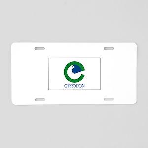 Carrollton Texas USA Aluminum License Plate