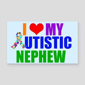 Autistic Nephew Rectangle Car Magnet
