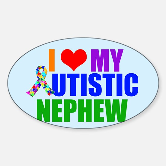Autistic Nephew Sticker (Oval)