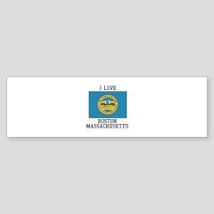 I Love Boston, Massachusetts Bumper Sticker
