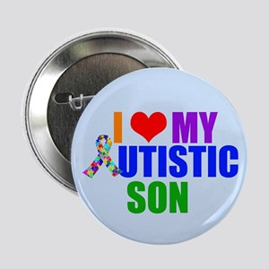 "Autistic Son 2.25"" Button"