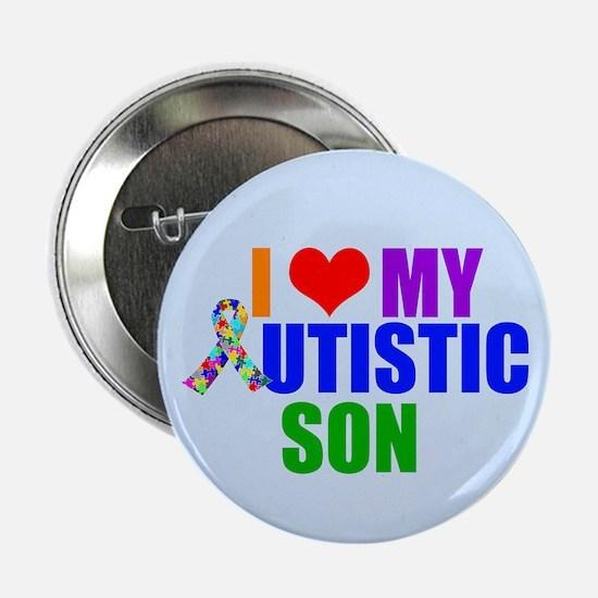 """Autistic Son 2.25"""" Button"""