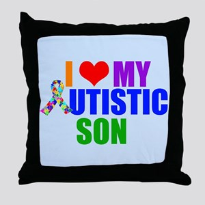 Autistic Son Throw Pillow
