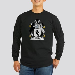 Wolfe Family Crest Long Sleeve Dark T-Shirt