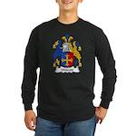 Wolcott Family Crest Long Sleeve Dark T-Shirt