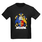 Wolcott Family Crest Kids Dark T-Shirt