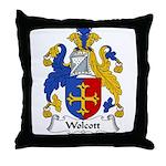 Wolcott Family Crest Throw Pillow