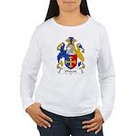 Wolcott Family Crest  Women's Long Sleeve T-Shirt
