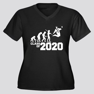 Class of 202 Women's Plus Size V-Neck Dark T-Shirt