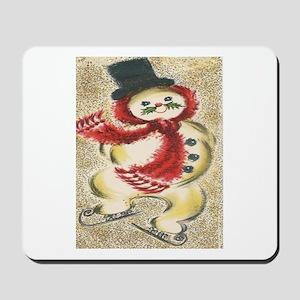 Vintage Snowman Mousepad