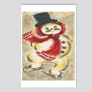 Vintage Snowman Postcards (Package of 8)