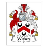 Withers Family Crest Small Poster
