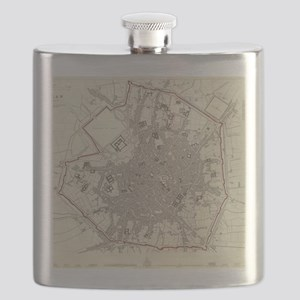 Vintage Map of Milan Italy (1832) Flask