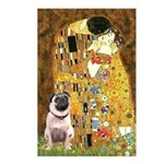 The Kiss / Pug Postcards (Package of 8)